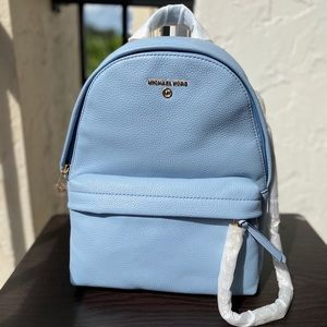 Michael Kors MD Slater Backpack in Pale Blue
